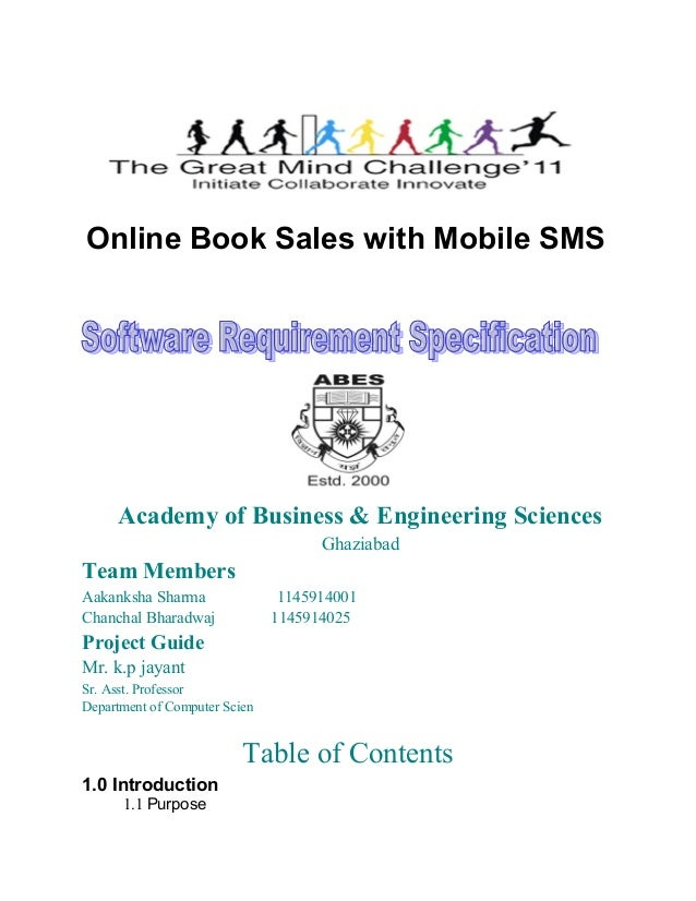 Online Book Sales with Mobile SMS     Academy of Business & Engineering Sciences                                     Ghazi...