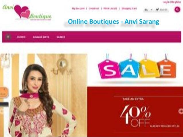 Online Boutiques - Anvi Sarang