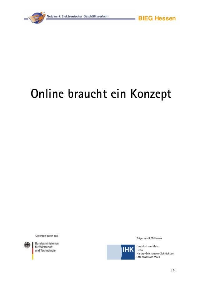 BIEG Hessen Online braucht ein Konzept Träger des BIEG Hessen 1/4 Frankfurt am Main Fulda Hanau-Gelnhausen-Schlüchtern Off...