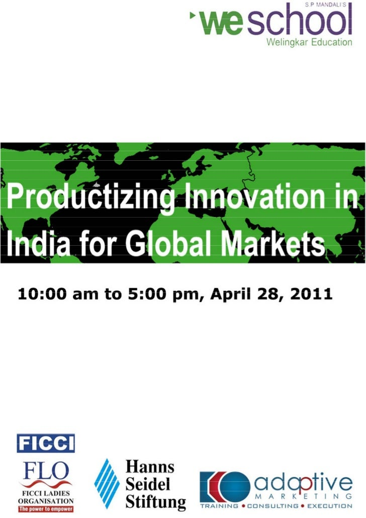 Productizing Innovation Conference in Bangalore