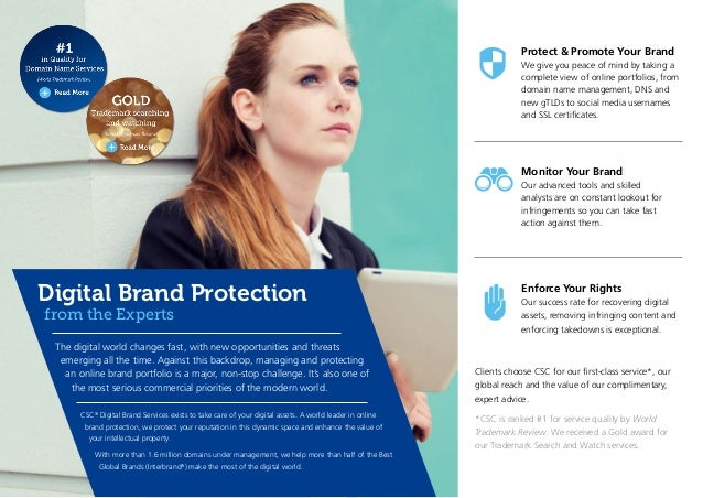 Protect & Promote Your Brand We give you peace of mind by taking a complete view of online portfolios, from domain name ma...