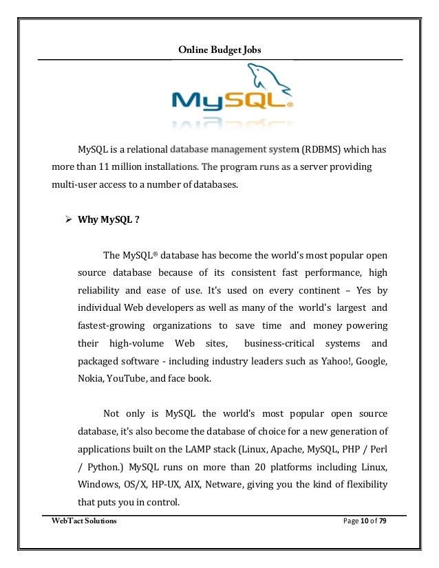 webtact solutions page 9 of 79 10 online budget jobs mysql - Php Mysql Jobs