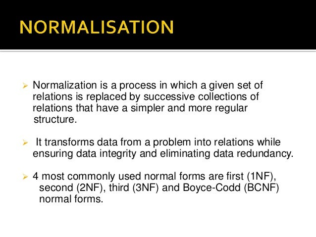 case study of normalisation in rdbms