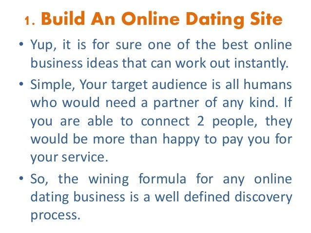 Dating business ideas