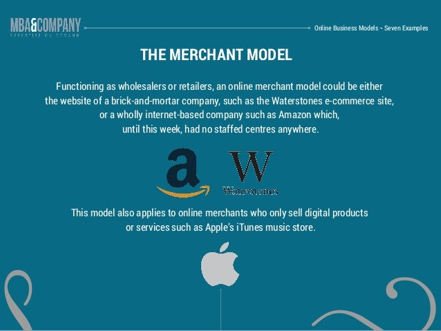online business models seven examples