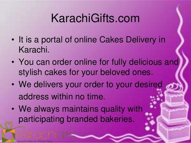 Online Cake Delivery In Karachi KarachiGifts 2