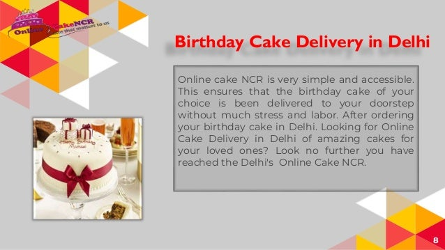 Birthday Cake Delivery In Delhi