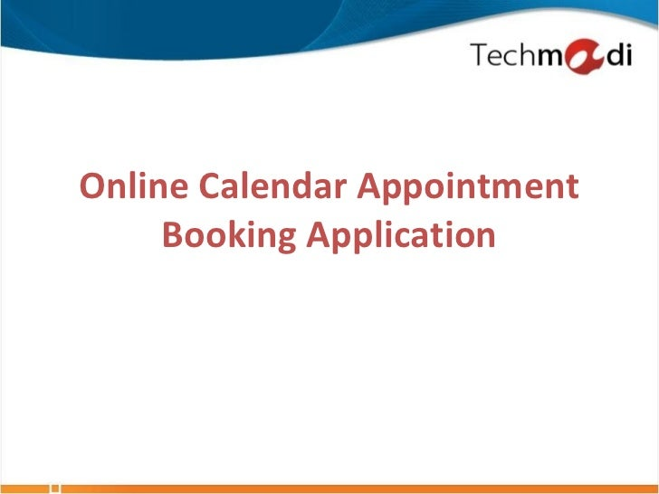 Online Calendar Appointment     Booking Application