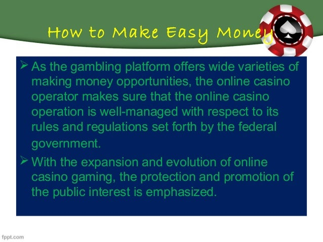view the presentation to know how online casinos are