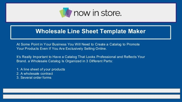 Online Catalog Template | Now in Store