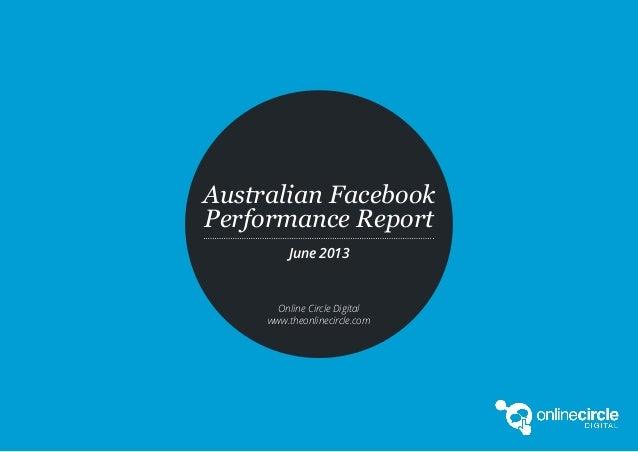 1Australian Facebook Performance Report June 2013 Edition // Source: www.socialpulse.co#fbreport // research@theonlinecirc...