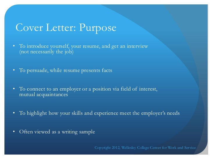Cover Letter Online Workshop