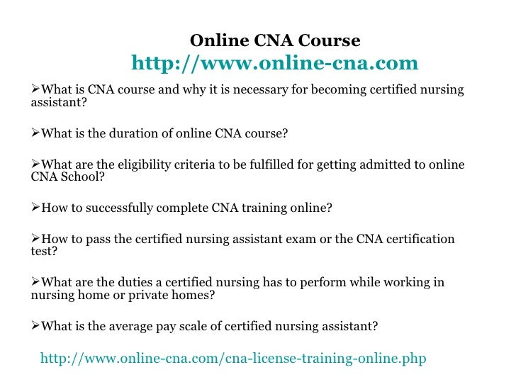 Online Cna Course