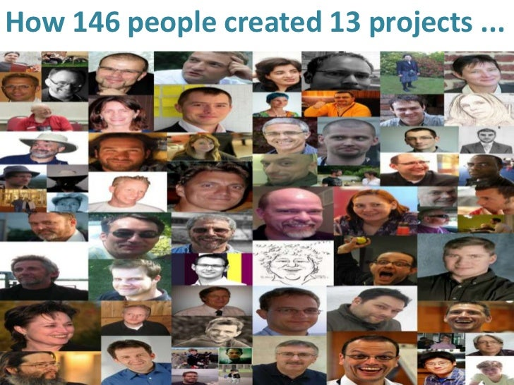 How 146 people created 13 projects ...
