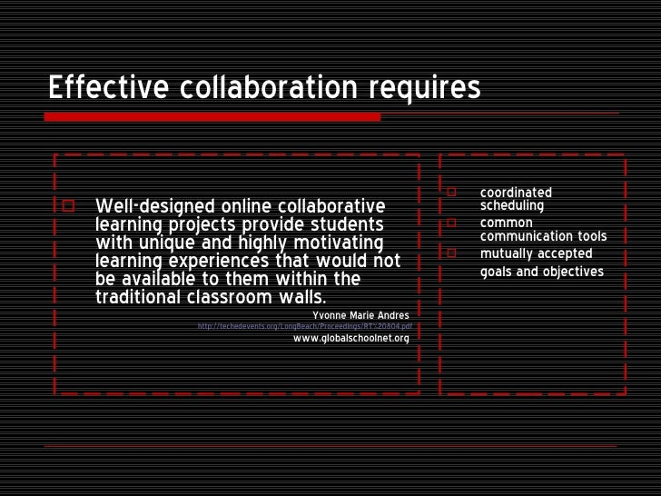 Collaborative Student Experience ~ Online collaborative learning