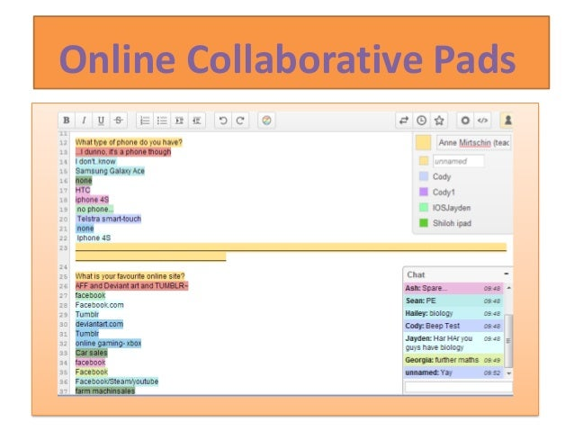 Online Collaborative Pads