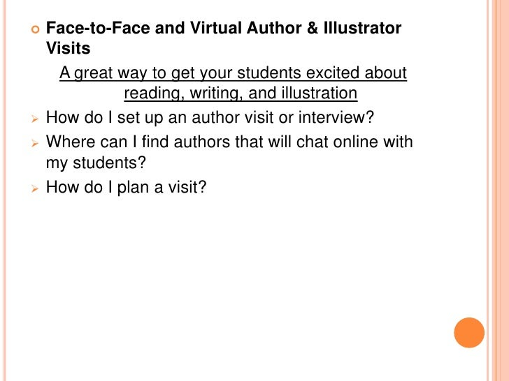  Face-to-Face and Virtual Book Clubs & Reading Groups  A great way to get your students involved with reading and sharing...