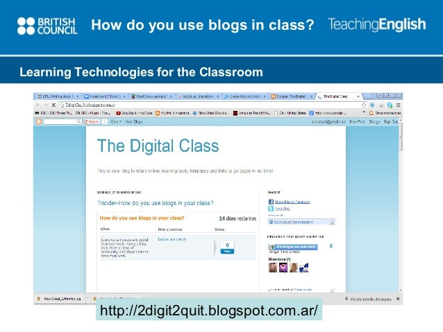 using blogs in the online classroom essay Porate blogs for use by students to support closer  project team incorporated the use of online photo-  using social media to enhance students' learning.