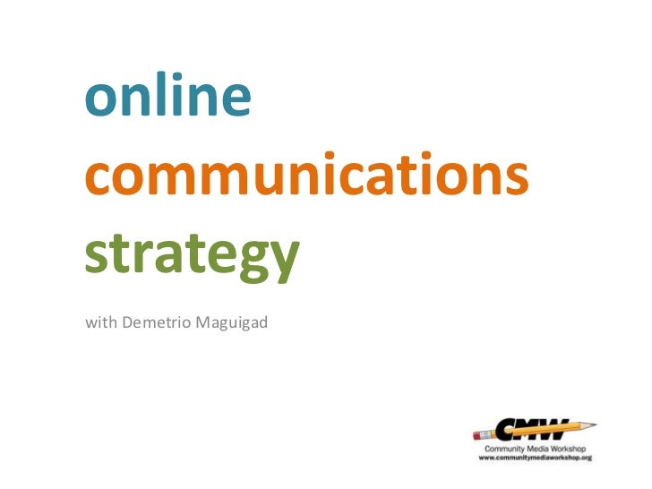 onlinecommunicationsstrategywith Demetrio Maguigad