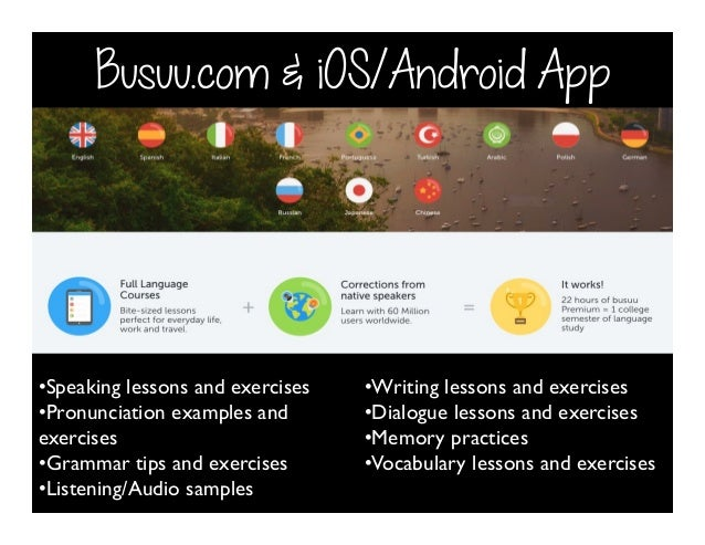 Busuu com & iOS/Android App • Speaking