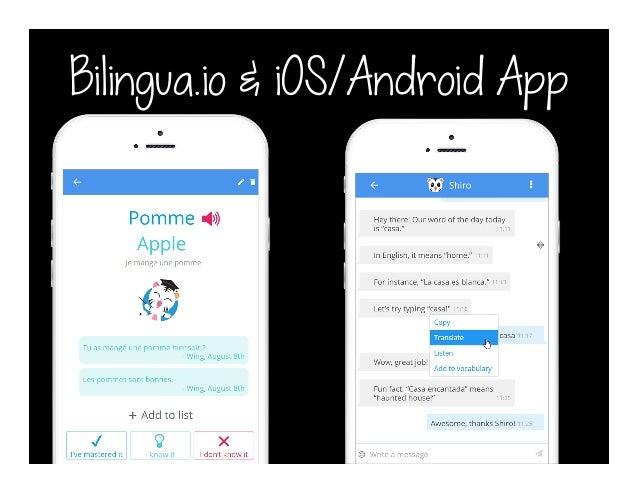 Bilingua.io & iOS/Android App