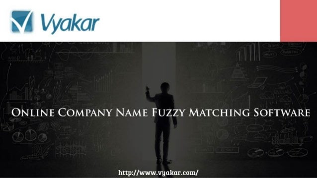 Online Company Name Fuzzy Matching Software