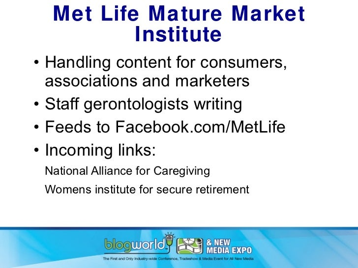 Institute life market mature met