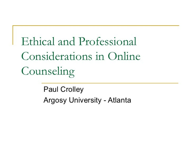 Ethical Issues in Providing Online Psychotherapeutic Interventions