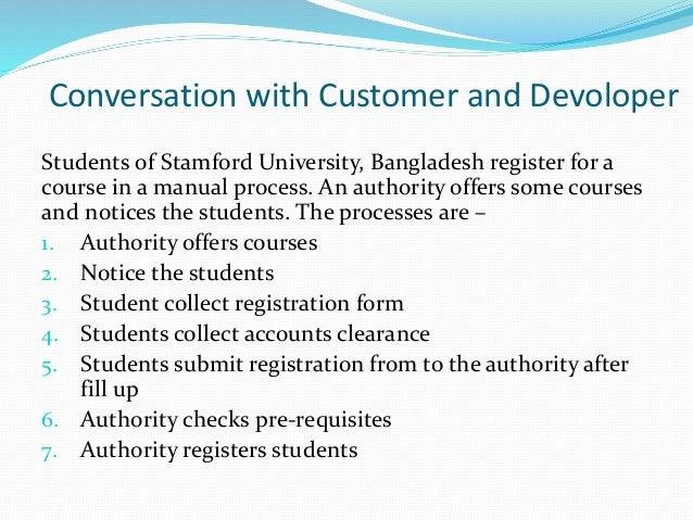 Online course registration system development software engineering pr…