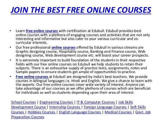 Best Online Courses in India