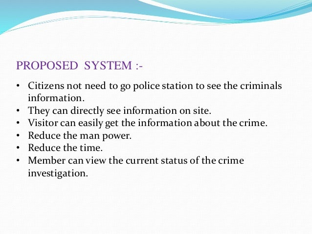 Online crime reporting system ppt