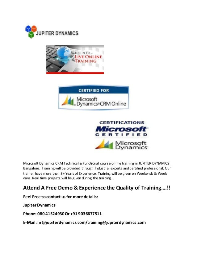 Microsoft Dynamics Crm Certification Training Image