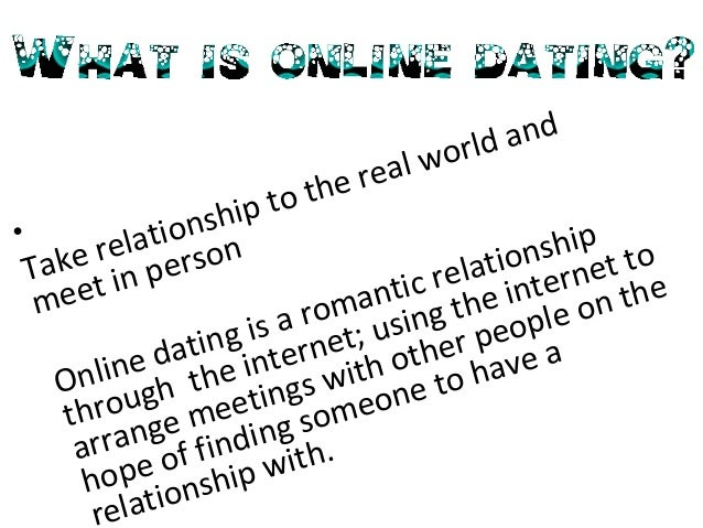 online dating is