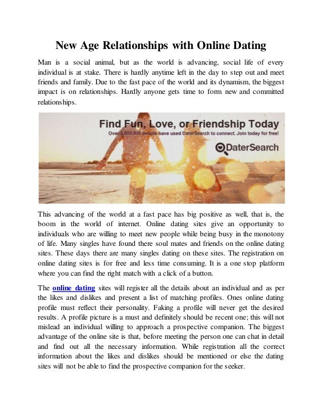 New Age online dating