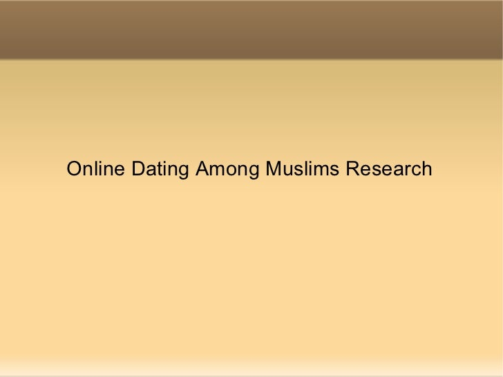 Online Dating Among Muslims Research