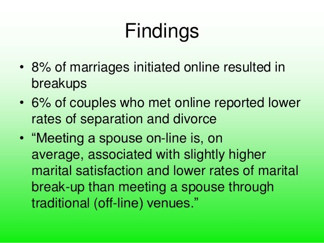 Online dating marriage rates