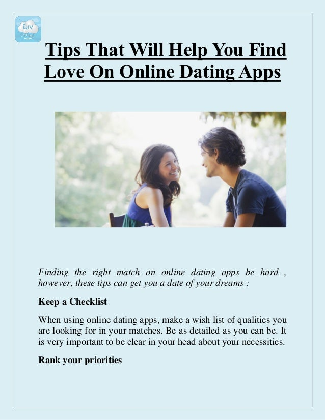 Online dating apps list