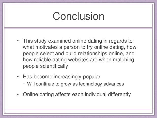 When should someone use online dating