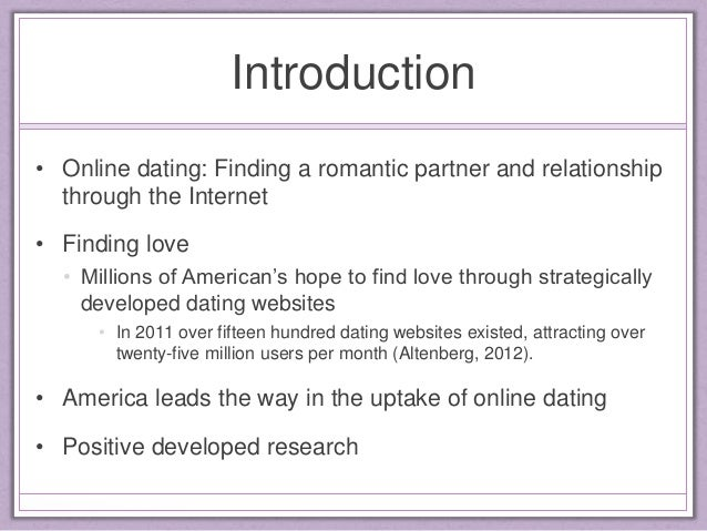 Online dating research questions