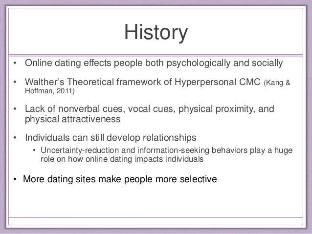 Negative impacts of online dating