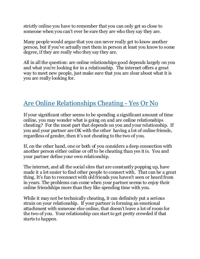 Emotional attachment online dating
