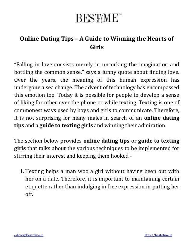 texting tips online dating