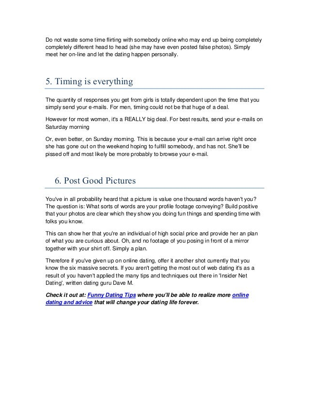 Netdating tips to improve