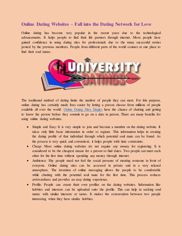 Purpose of dating sites