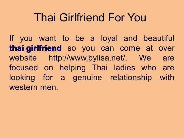 Thai date for you