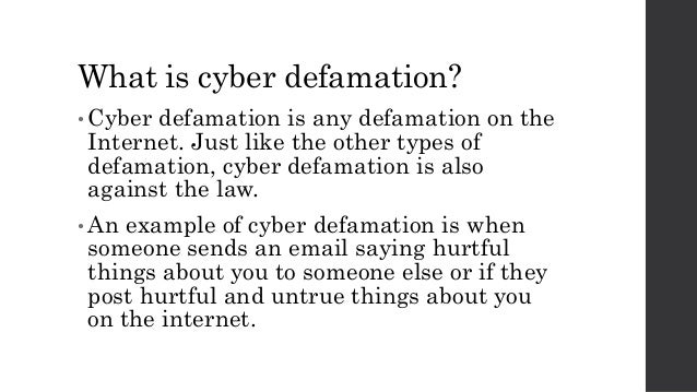 Ppt a presentation on cyber defamation, censorship, and.
