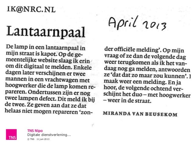 Digitale dienstverlening...© TNS 11 juni 2013