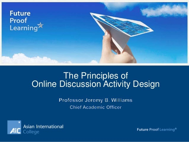 The Principles of Online Discussion Activity Design