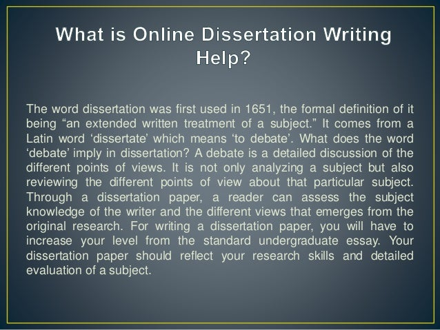 Our Dissertation Writers