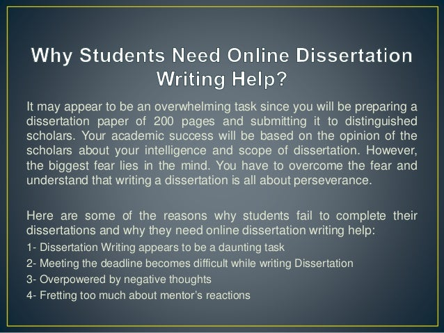 Online dissertation writing no
